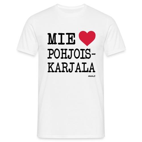 Mie rakastan Pohjois-Karjala -t-paita - Miesten t-paita