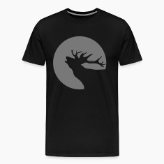 Deer Reindeer Christmas sun moon shadow 1c T-Shirts