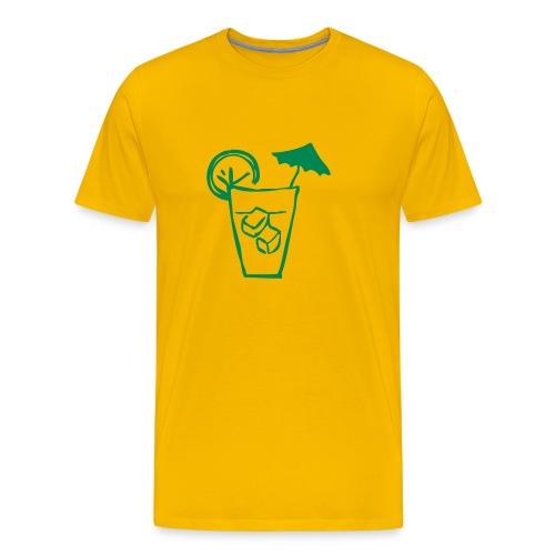 Cocktail Yellow n' Green - Men's Premium T-Shirt