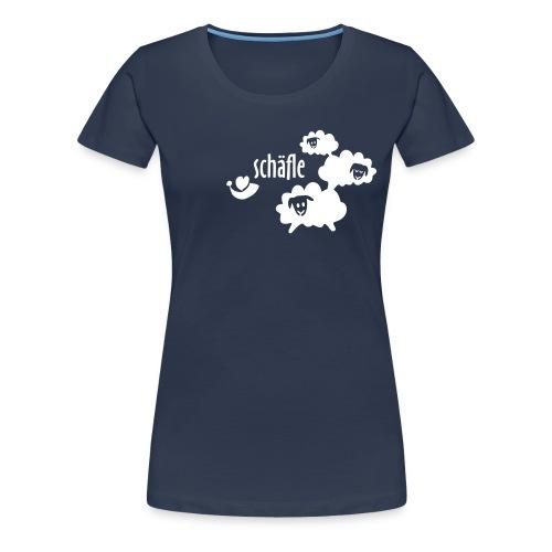 Schäfle figurbetont, nachtblau_weiß - Frauen Premium T-Shirt