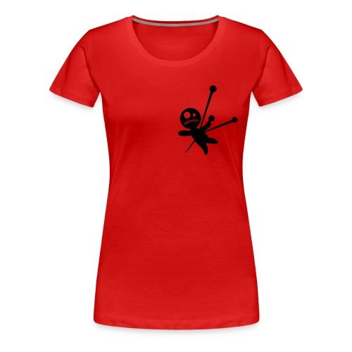 Voodoo Camiseta Mujer Doble Roja - Camiseta premium mujer