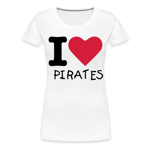 Girlie Shirt - I Love Pirates - Frauen Premium T-Shirt