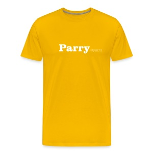 Parry  Cymru white text - Men's Premium T-Shirt