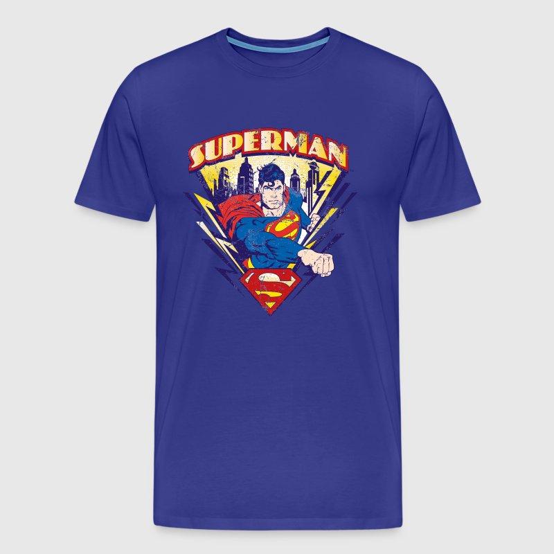 superman t shirt used look f r m nner t shirt spreadshirt. Black Bedroom Furniture Sets. Home Design Ideas