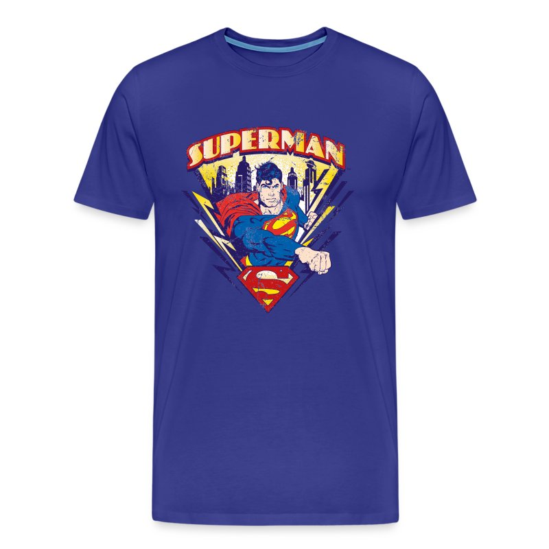superman t shirt used look f r m nner t shirt spreadshirt. Black Bedroom Furniture Sets. Home Design Ideas