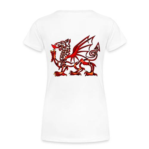 Women's Celtic Knot Welsh Dragon T-Shirt - Women's Premium T-Shirt