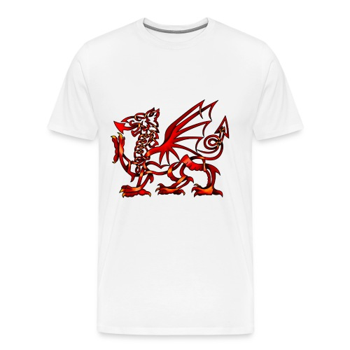 Men's Celtic Knot Welsh Dragon T-Shirt - Men's Premium T-Shirt