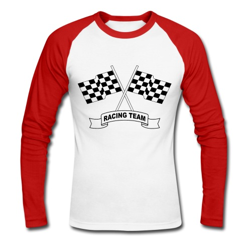 racing team flags - Men's Long Sleeve Baseball T-Shirt