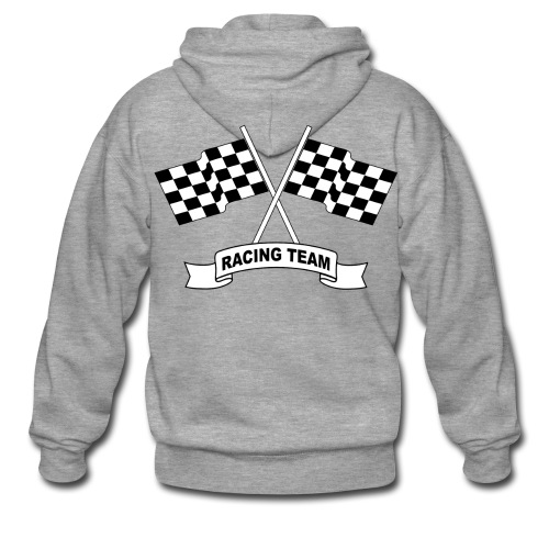 racing team flags - Men's Premium Hooded Jacket