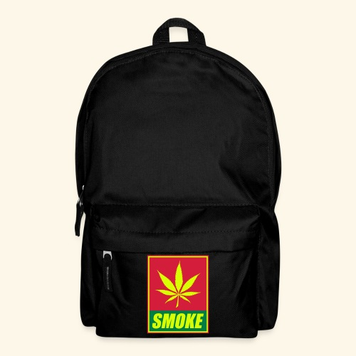 sac inscription SMOKE et feuille de cannabis - Sac à dos