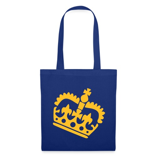 Blue tote bag with crown design and hetty logo - Tote Bag