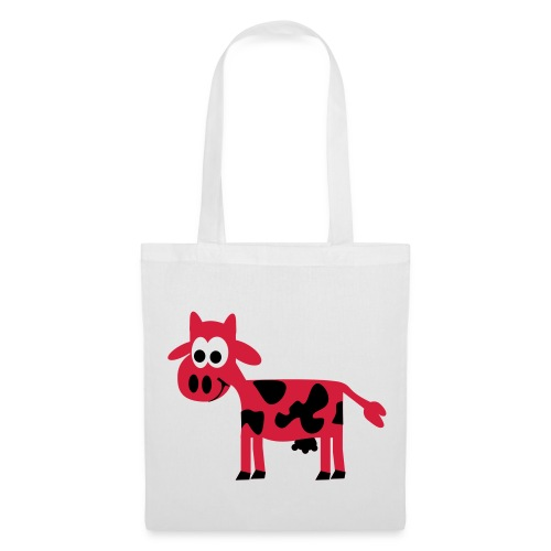 white tote bag with design and hetty logo - Tote Bag