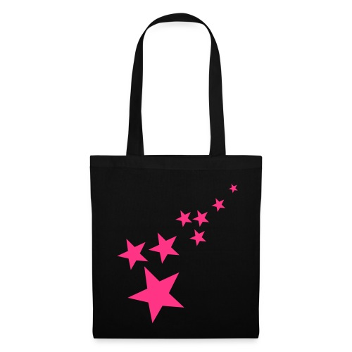 black tote bag with design and hetty logo - Tote Bag