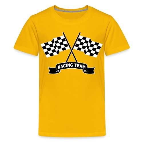 Racing flags team - Teenage Premium T-Shirt
