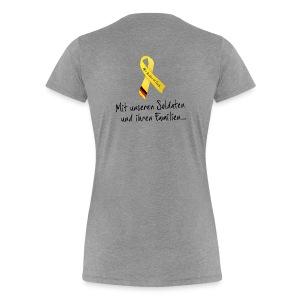 T-Shirt Gelbe Schleife - Frauen Premium T-Shirt