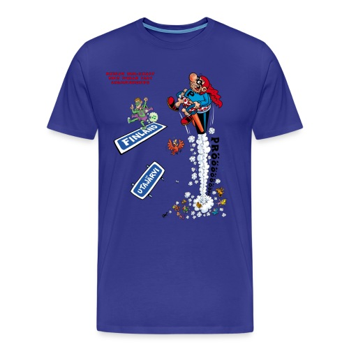 2013 World Fart Championships t-paita miehille/unisex, vapaavalintainen väri - Miesten premium t-paita