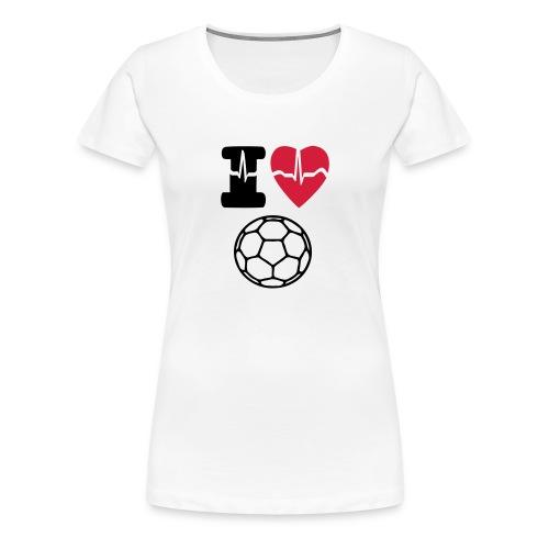 Frauen Premium T-Shirt - i love,Tshirt,Sport,Shirts,I love Handball,Handball Shirts,Handball