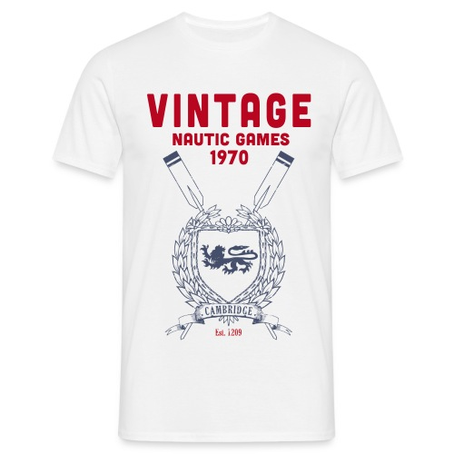 vintage competition white/navy - T-shirt Homme