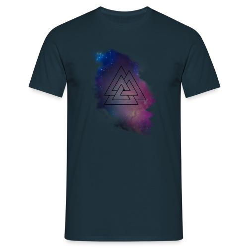 Triple Triangle Lila schwarzes Logo - Männer T-Shirt