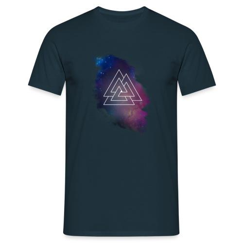 Triple Triangle Lila weißes Logo - Männer T-Shirt