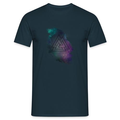 Triple Triangle Tuerkis schwarzes Logo - Männer T-Shirt