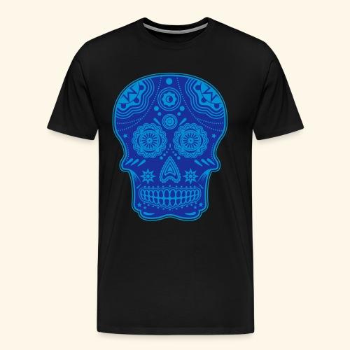Tête de mort Sugar Skull  - T-shirt Premium Homme
