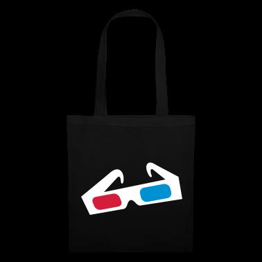 Black 3d glasses brille Bags