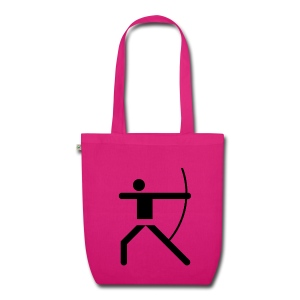 Shopping Bag Olympic Archer black - Bio-Stoffbeutel