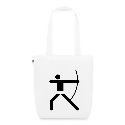 Shopping Bag Olympic Archer black - Bio-Stoffbeutel