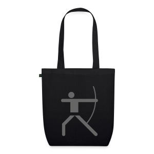 Shopping Bag Olympic Archer grey - Bio-Stoffbeutel