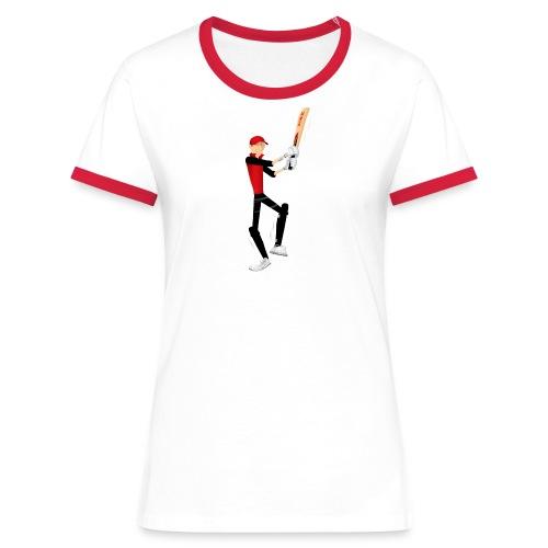 Retro Cricket - Women's Ringer T-Shirt