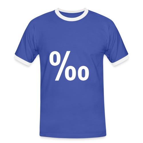 Tanto por mil - Camiseta contraste hombre