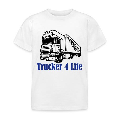 T-shirt barn Trucker 4 life När jag blir stor ska jag också köra Lastbil - T-shirt barn