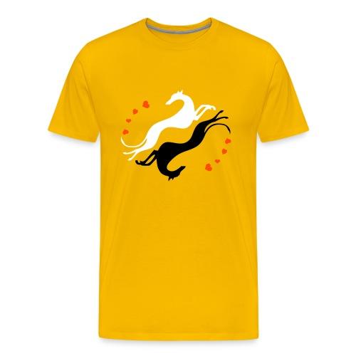 Lévrier Valentin - T-shirt Premium Homme