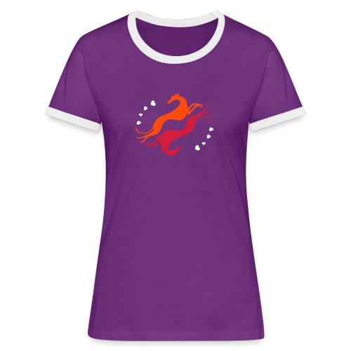 Lévrier Valentin - T-shirt contrasté Femme