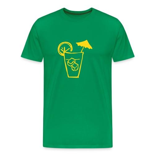 Cocktail Grass Green n' Yellow - Men's Premium T-Shirt