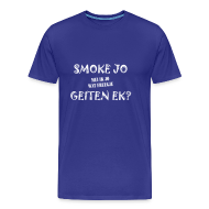 T-shirts ~ Mannen Premium T-shirt ~ Fries Shirt Smoke D/Blauw
