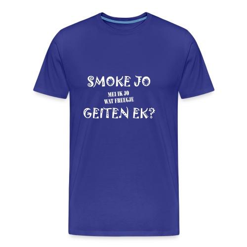 Fries Shirt Smoke D/Blauw - Mannen Premium T-shirt