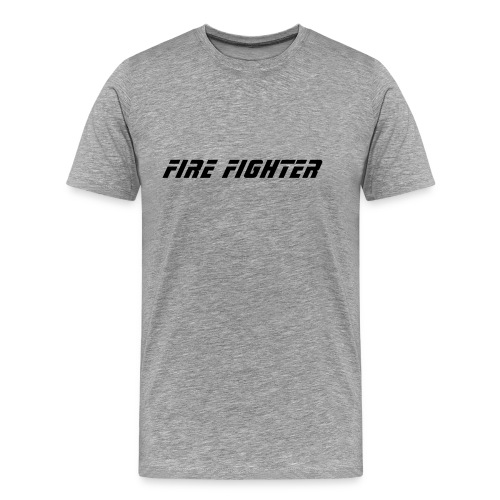 Firefighter T-Shirt (Gray) - Men's Premium T-Shirt