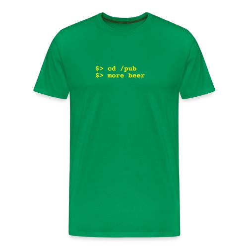 Unix drinking commands T-shirt - Men's Premium T-Shirt