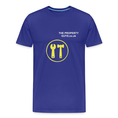 Mens Construction T-Shirt Blue - Men's Premium T-Shirt
