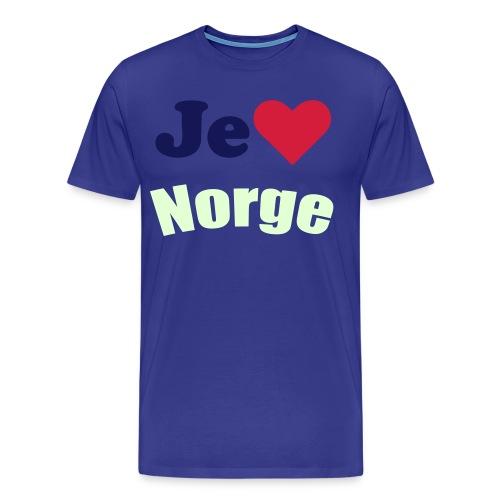 Je elsker norge - Premium T-skjorte for menn