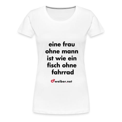 frau fisch fahrrad Kurzarm - Frauen Premium T-Shirt
