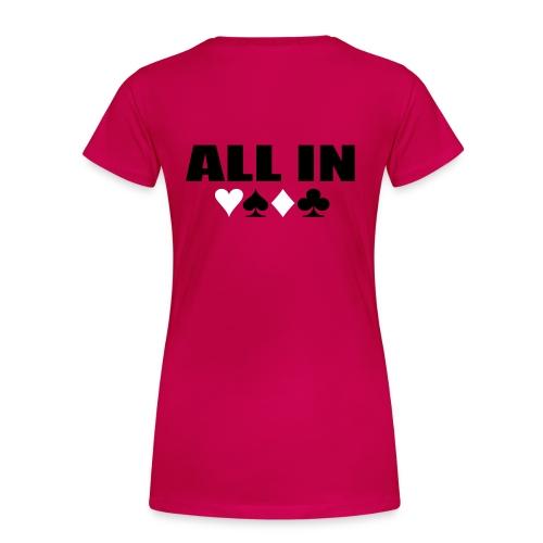 Girl Poker - T-shirt Premium Femme