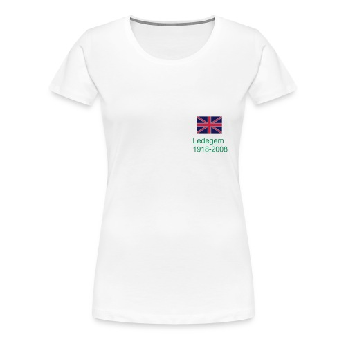 Ladies T-shirt Remembrance Ledegem Union logo - Women's Premium T-Shirt