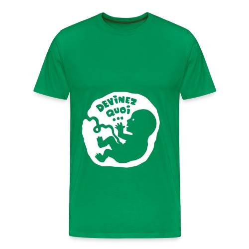 T-Shirt devinez-quoi annonce futur papa - T-shirt Premium Homme