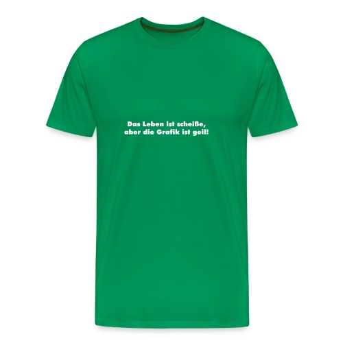 leben_grafik - grün - Männer Premium T-Shirt