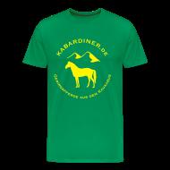 T-Shirts ~ Männer Premium T-Shirt ~ dunkelgrün mit Logo vorne