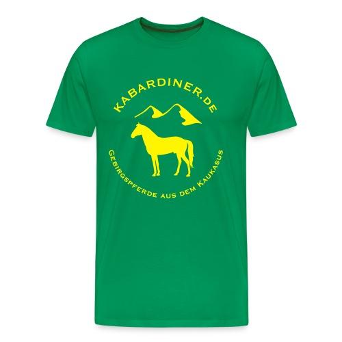 dunkelgrün mit Logo vorne - Männer Premium T-Shirt