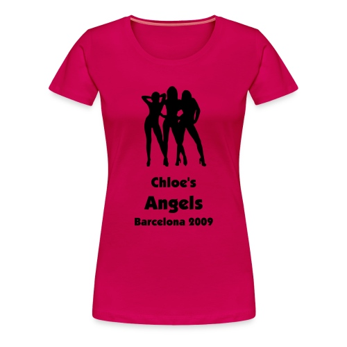 Angels - Personalised Text Front & Back - Women's Premium T-Shirt